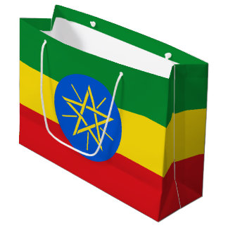 Ethiopia Flag Large Gift Bag