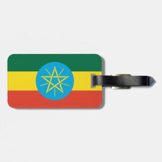 Ethiopia Flag Luggage Tag