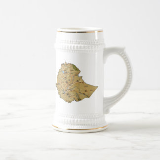 Ethiopia Flag ~ Map Mug