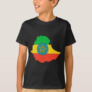 Ethiopia flag map T-Shirt
