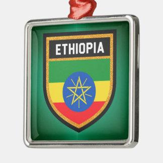 Ethiopia Flag Metal Ornament