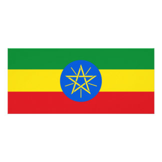 Ethiopia Flag Rack Card