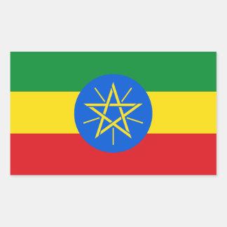 Ethiopia Flag Rectangular Sticker