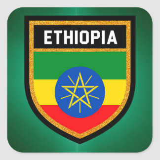 Ethiopia Flag Square Sticker