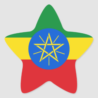 Ethiopia Flag Star Sticker