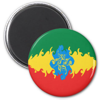 Ethiopia Gnarly Flag Magnets
