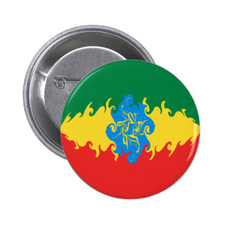Ethiopia Gnarly Flag Pinback Buttons