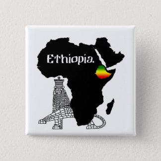 ETHIOPIA / LION of JUDAH 15 Cm Square Badge