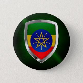 Ethiopia Mettalic Emblem 6 Cm Round Badge