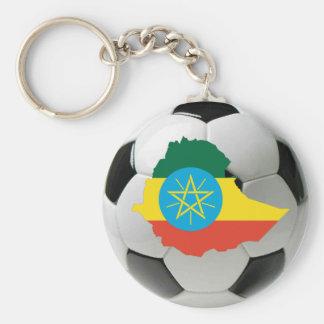 Ethiopia national team basic round button key ring