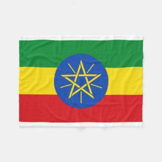 Ethiopia National World Flag Fleece Blanket