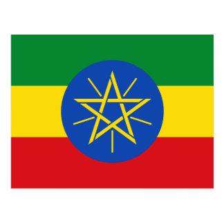 Ethiopia National World Flag Postcard