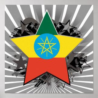Ethiopia Star Poster