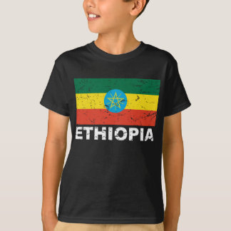 Ethiopia Vintage Flag T-Shirt