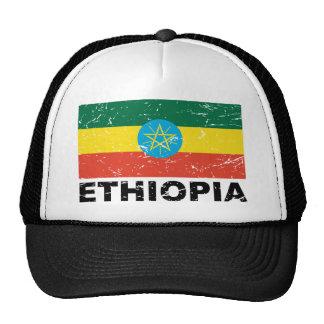 Ethiopia Vintage Flag Trucker Hats
