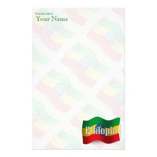 Ethiopia Waving Flag Stationery