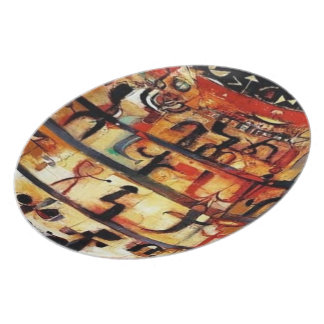 Ethiopian african Art plate