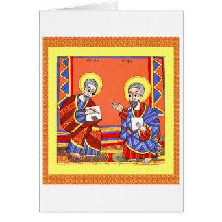 Ethiopian-Bible-Saint-Luke-Saint-John Card