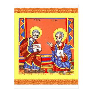 Ethiopian-Bible-Saint-Luke-Saint-John Postcard