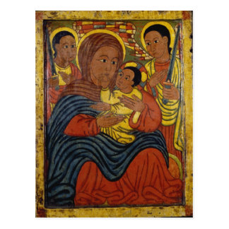 Ethiopian Black Madonna with Christ Child Postcard