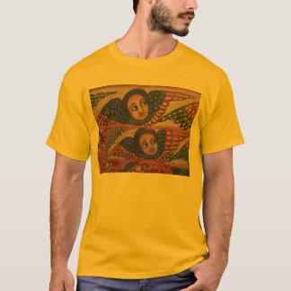 Ethiopian Church Painting - Gold Angels T-Shirt
