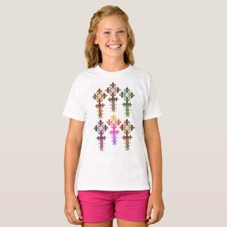 Ethiopian Cross T-Shirt - Girls