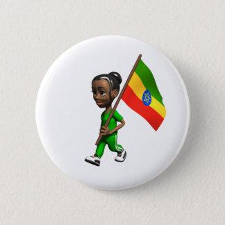 Ethiopian Girl 6 Cm Round Badge