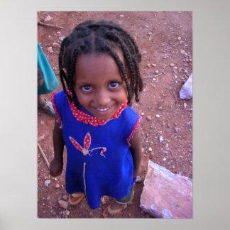 Ethiopian Girl Poster