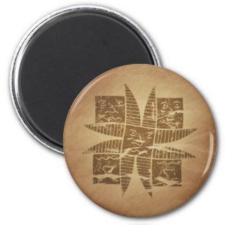 Ethiopian Good Luck Charm V1 6 Cm Round Magnet