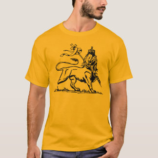 Ethiopian Lion of Judah W/ Ethiopian Cross on back T-Shirt