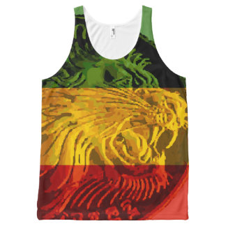 Ethiopian Rasta Lion Tank Top Unisex All-Over Print Tank Top