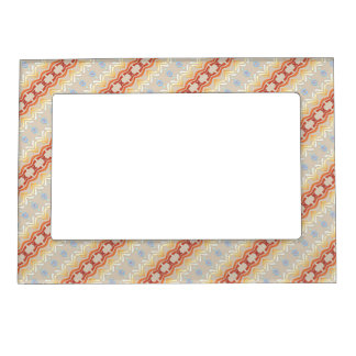 Ethnic african geometric pattern. magnetic frame