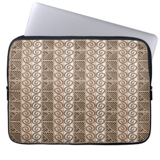 ethnic african hand-drawn pattern laptop sleeve