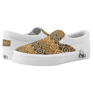 Ethnic african hand-drawn  pattern. Slip-On shoes