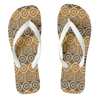 Ethnic african hand-drawn  pattern. thongs