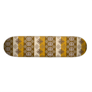 Ethnic African pattern with Adinkra simbols 18.1 Cm Old School Skateboard Deck