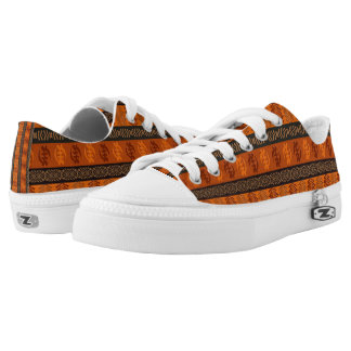 Ethnic African pattern with Adinkra simbols Low Tops