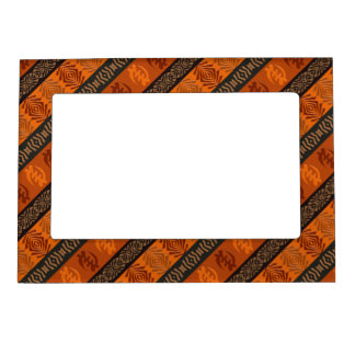 Ethnic African pattern with Adinkra simbols Magnetic Picture Frame