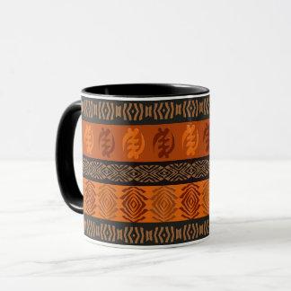 Ethnic African pattern with Adinkra simbols Mug
