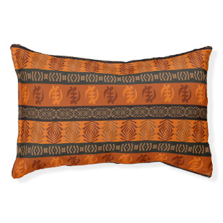 Ethnic African pattern with Adinkra simbols Pet Bed