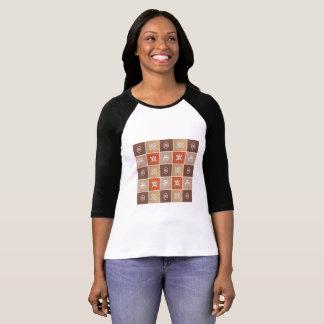 ethnic african pattern with Adinkra simbols T-Shirt