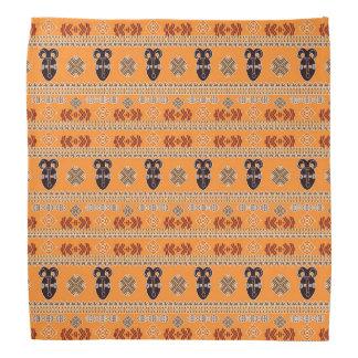 ethnic african  pattern with simbols. bandana
