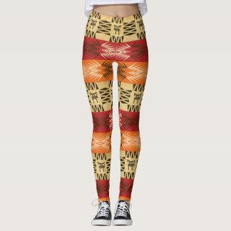 ethnic african  pattern with simbols. leggings