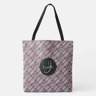 ethnic african seamless pattern.monogram. tote bag