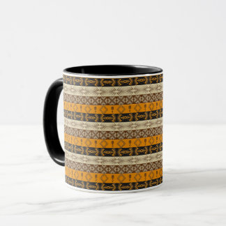 ethnic african striped tribal pattern. mug