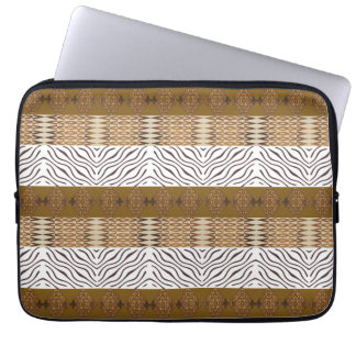 ethnic african stripes  seamless pattern laptop sleeve