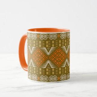 ethnic african tribal geometric pattern mug