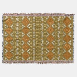 ethnic african tribal geometric pattern throw blanket