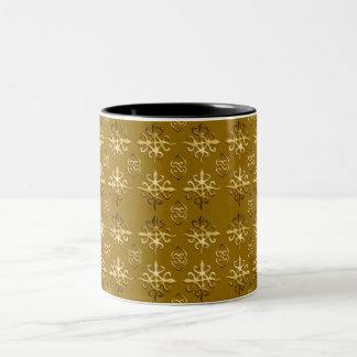 Ethnic african tribal pattern.Adinkra. Two-Tone Coffee Mug