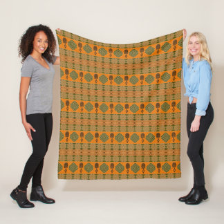 ethnic african tribal pattern fleece blanket